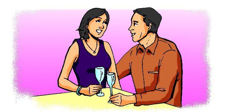 Cartoon: Couple on a date