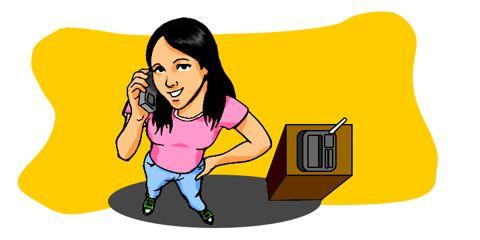 Cartoon: Woman on the phone