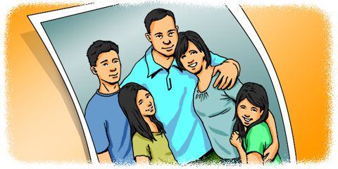 Cartoon: Family photo